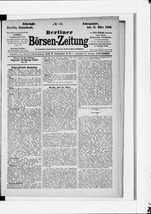 Berliner Börsen-Zeitung vom 31.03.1883