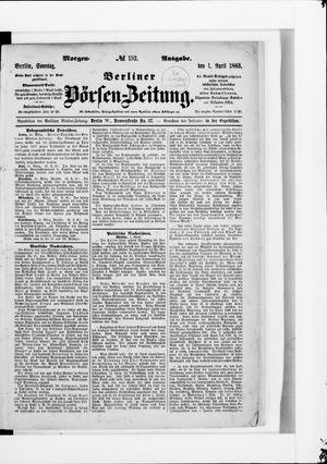 Berliner Börsen-Zeitung vom 01.04.1883