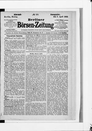 Berliner Börsen-Zeitung vom 02.04.1883