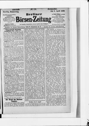 Berliner Börsen-Zeitung vom 05.04.1883
