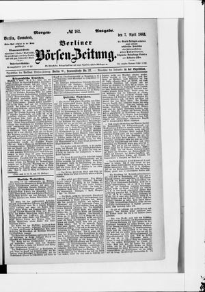 Berliner Börsen-Zeitung vom 07.04.1883