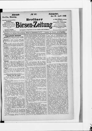 Berliner Börsen-Zeitung on Apr 10, 1883