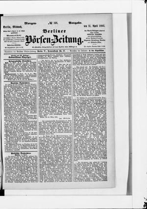 Berliner Börsen-Zeitung vom 11.04.1883