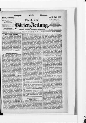 Berliner Börsen-Zeitung vom 12.04.1883