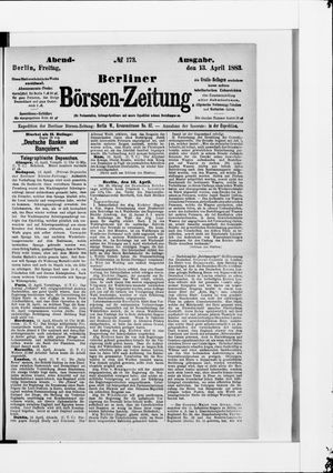 Berliner Börsen-Zeitung vom 13.04.1883