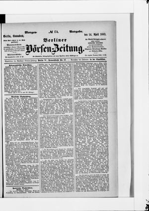 Berliner Börsen-Zeitung vom 14.04.1883