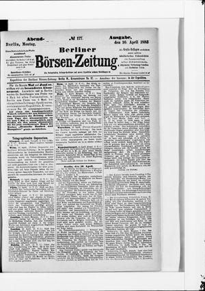 Berliner Börsen-Zeitung vom 16.04.1883