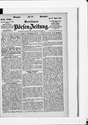 Berliner Börsen-Zeitung vom 17.04.1883