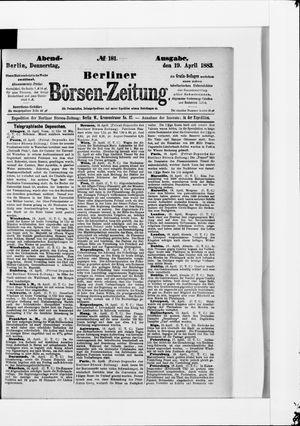 Berliner Börsen-Zeitung vom 19.04.1883
