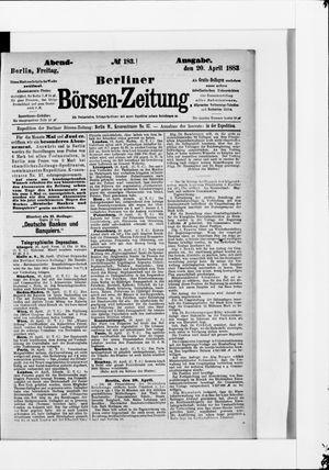 Berliner Börsen-Zeitung vom 20.04.1883