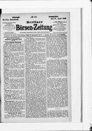 Berliner Börsen-Zeitung vom 21.04.1883