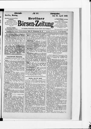 Berliner Börsen-Zeitung vom 23.04.1883