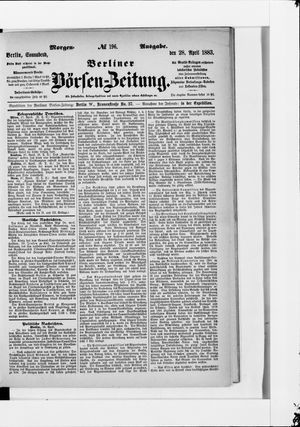 Berliner Börsen-Zeitung vom 28.04.1883