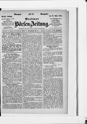 Berliner Börsen-Zeitung vom 29.04.1883