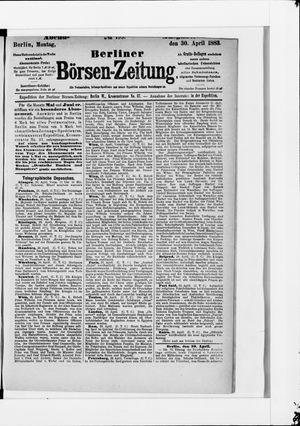 Berliner Börsen-Zeitung vom 30.04.1883