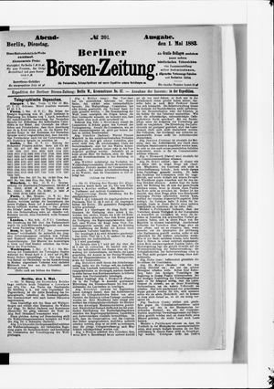 Berliner Börsen-Zeitung vom 01.05.1883