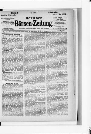 Berliner Börsen-Zeitung on May 2, 1883