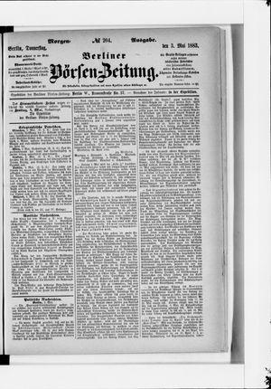 Berliner Börsen-Zeitung vom 03.05.1883