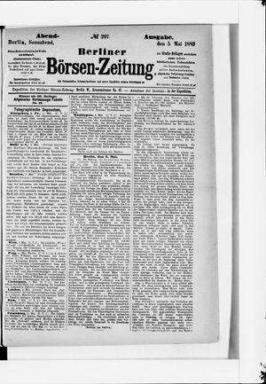 Berliner Börsen-Zeitung vom 05.05.1883