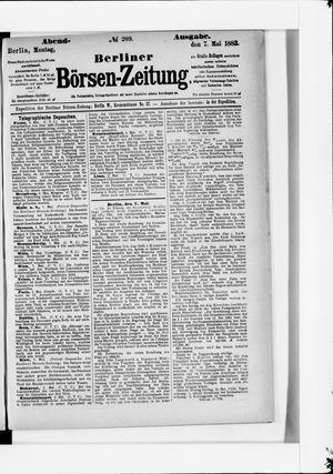 Berliner Börsen-Zeitung vom 07.05.1883