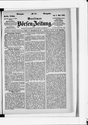 Berliner Börsen-Zeitung vom 08.05.1883