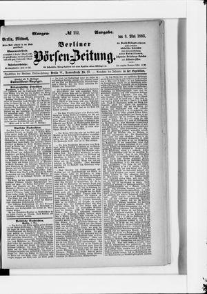 Berliner Börsen-Zeitung vom 09.05.1883