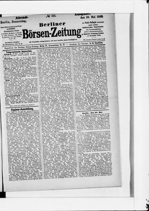 Berliner Börsen-Zeitung vom 10.05.1883
