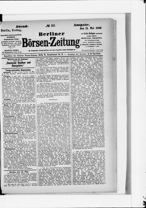 Berliner Börsen-Zeitung vom 11.05.1883