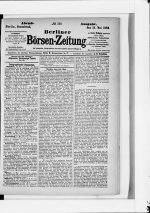 Berliner Börsen-Zeitung vom 12.05.1883