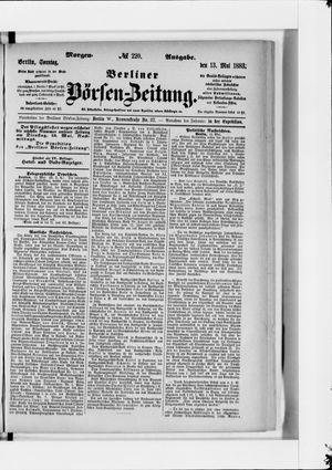 Berliner Börsen-Zeitung vom 13.05.1883
