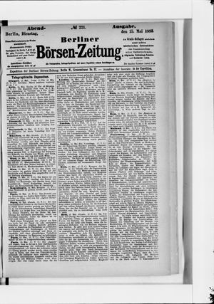 Berliner Börsen-Zeitung vom 15.05.1883