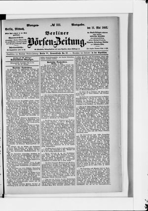 Berliner Börsen-Zeitung vom 16.05.1883