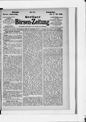 Berliner Börsen-Zeitung vom 17.05.1883