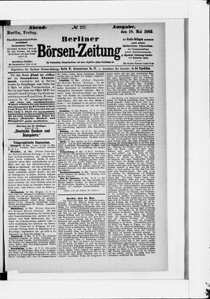 Berliner Börsen-Zeitung vom 18.05.1883
