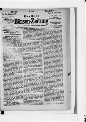 Berliner Börsen-Zeitung vom 19.05.1883