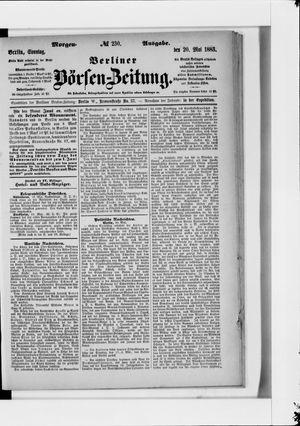 Berliner Börsen-Zeitung vom 20.05.1883