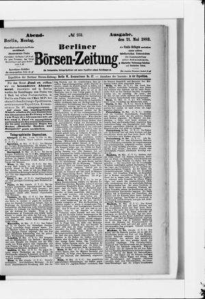 Berliner Börsen-Zeitung vom 21.05.1883