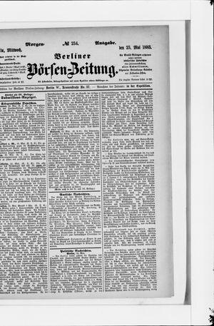 Berliner Börsen-Zeitung vom 23.05.1883