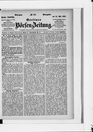 Berliner Börsen-Zeitung vom 24.05.1883