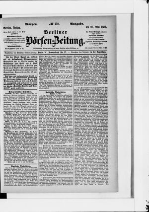 Berliner Börsen-Zeitung vom 25.05.1883