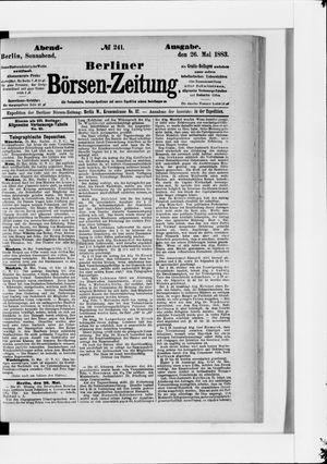 Berliner Börsen-Zeitung vom 26.05.1883