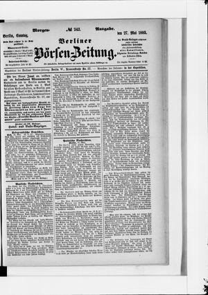 Berliner Börsen-Zeitung on May 27, 1883