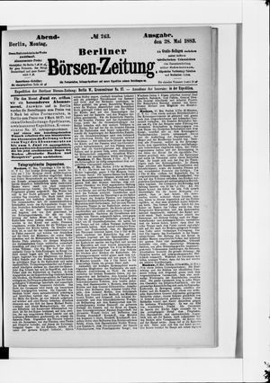 Berliner Börsen-Zeitung vom 28.05.1883