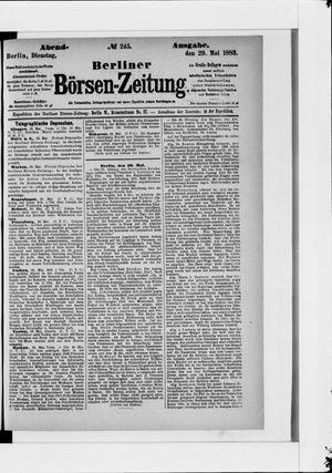 Berliner Börsen-Zeitung vom 29.05.1883