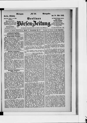 Berliner Börsen-Zeitung vom 30.05.1883
