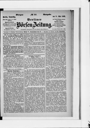 Berliner Börsen-Zeitung vom 31.05.1883