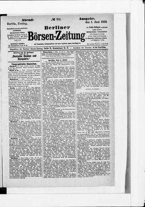 Berliner Börsen-Zeitung vom 01.06.1883