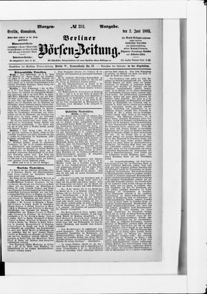 Berliner Börsen-Zeitung vom 02.06.1883