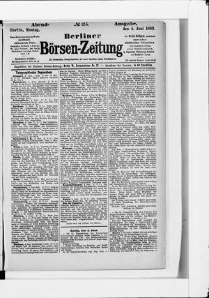 Berliner Börsen-Zeitung vom 04.06.1883