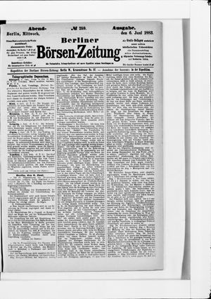 Berliner Börsen-Zeitung vom 06.06.1883